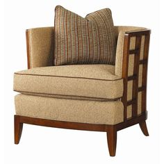 Ocean Club Exposed Grid Pattern Wood Abaco Chair by Tommy Bahama Home - Baer's Furniture - Exposed Wood Chair