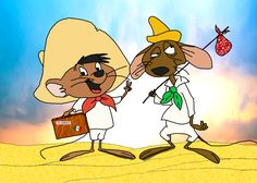 In the Looney Tunes universe, the mouse Speedy Gonzales has a cousin named Slowpoke Rodriguez whose possible marijuana habit is alluded to in an episode from Looney Tunes Characters, Classic Cartoon Characters, Looney Tunes Cartoons, Favorite Cartoon Character, Old Cartoons, Classic Cartoons, Animated Cartoons, Cartoon Crazy, Cartoon Jokes