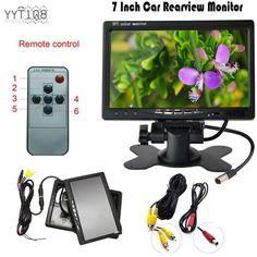 "Auto Car Rearview Monitor Rearview Night Vision Backup Camera 7""TFT LCD Screen…"