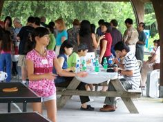 Gulfcoast Chinese American Association, an alliance member of Sarasota Sister Cities Association, annual picnic at Twin Lakes park in Sarasota on 2007. The GCAA provides educational, cultural service and charitable support to Chinese American families, American Families with Children from China (FCC), members of the US-China Peoples Friendship Association (USCPFA), and Americans at large who desire friendship with and cultural understanding of American Chinese and China.