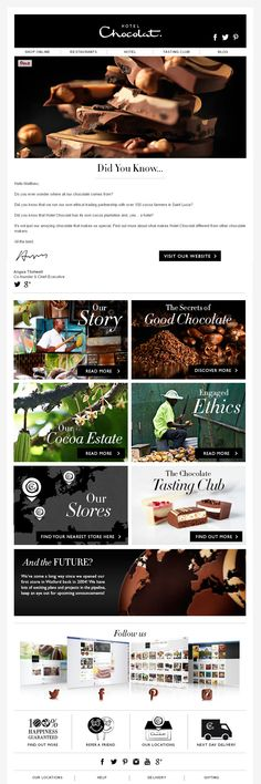Really nice example of a story-telling email from Hotel Chocolat