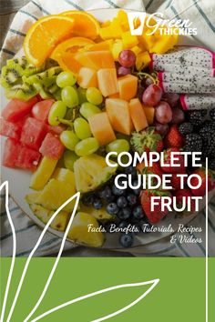 This incredible guide to fruit will blow your mind with fascinating fruit facts, fruit benefits, fruit tutorials, 200+ fruit recipes and videos. Protein Fruit Smoothie, Fruit Smoothie Recipes, Smoothie Diet, Fruit Recipes, Raw Vegan Recipes, Vegan Food, Healthy Fruits, Healthy Eating, Fruit Facts
