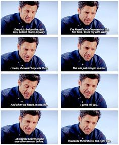 I'm just realized there's no way to know if he's talking about Addison or Meredith