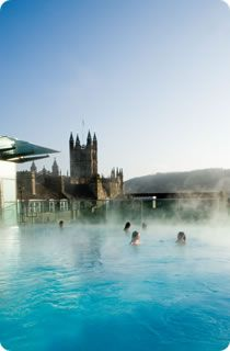 Thermae Bath Spa in Bath. Bathe in the mineral waters at Bath. Phenomenal aromatherapy steam rooms