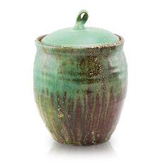 Rustic Fern Ceramic Cremation Urn