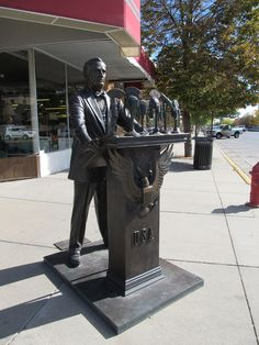 "Rapid City, South Dakota - The City of the Presidents - ""Franklin Delano Roosevelt"""
