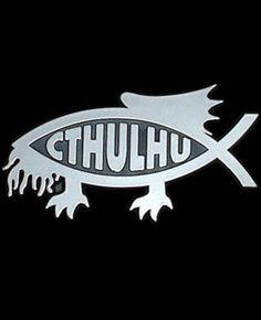 Arkham Bazaar - Cthulhu Fish, $9.00 (http://arkhambazaar.com/stickers/cthulhu-fish/)