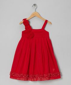 Take a look at this Red Felice Dress - Toddler & Girls by Periwinkle on #zulily today!