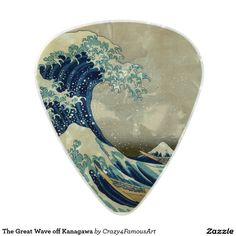 The Great Wave off Kanagawa Pearl Celluloid Guitar Pick