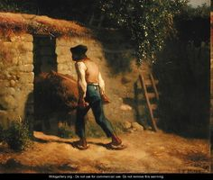 Peasant with a Wheelbarrow, 1848-5 - Jean-Francois Millet.  Professional Artist is the foremost business magazine for visual artists. Visit ProfessionalArtistMag.com.- www.professionalartistmag.com