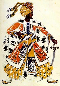 Бакст Лев Самуилович (1866-1924) «Эскиз костюма Синего бога для постановки 'Синий бог' Райнальдо Гана» 1912