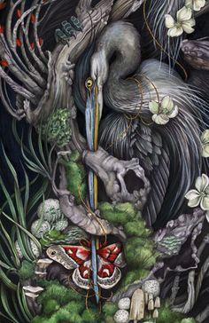 Silk moth crop by Christina Mrozik