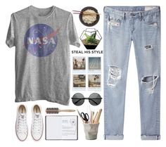 """Steal His Style"" by magiomi ❤ liked on Polyvore featuring rag & bone/JEAN, Converse, Polaroid, ESSEY, Harrods and Philip Kingsley"