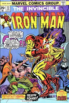 Iron Man #72, January 1975, cover by Gil Kane and Frank Giacoia