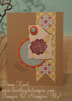 Dana Kent Stampin' Up! Demonstrator Bloomin' Marvelous Gesso Card