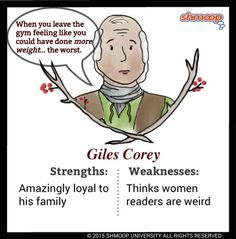 Everything you ever wanted to know about Giles Corey in The Crucible, written by masters of this stuff just for you. Gcse English, English Literature, English Lessons, Theatre Costumes, Musical Theatre, Gcse Drama, High School English, Hocus Pocus, Special Education