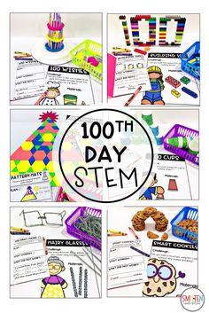 day of school activities stem activities Best Picture For School Celebration days For Your Tas 100th Day Of School Crafts, 100 Day Of School Project, 100 Days Of School, School Holidays, School Fun, First Day Of School, School Projects, School Ideas, School Stuff