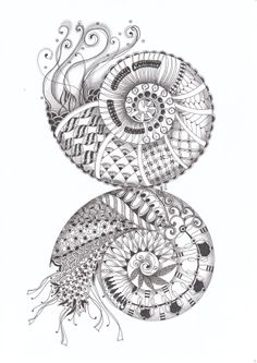 Diva's Challenge #160: string theory, spiral out, keep going. Made by Francine Derks