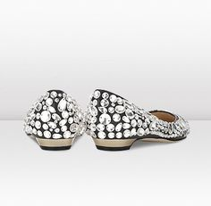 Jimmy Choo - Tibet - 132tibetblnwj - Black Nappa and Crystal Pointy Toe Pumps - Decadence is taken to a new level with these exquisite flat pumps; lavishly encrusted with Swarovski crystals. Each crystal has been specially selected and are hand applied by true artisans so they follow the contours of the foot.