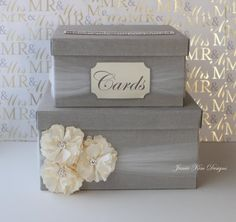 Wedding Card Box Money Box Custom Card Box by jamiekimdesigns
