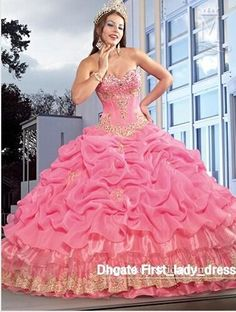 31d37571c36 New Corset Bodice Pink Princess Quinceanera Dress With Jacket Appliques Fold  Cheap Sweet 15 16 Girl s