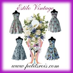 Vestidos Estilo Vintage, palabras de honor by petits-rois on Polyvore featuring moda and vintage