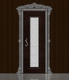 Wooden Glass Door, Pooja Room Design, Shutter Doors, Pooja Rooms, Room Doors, Door Handles, Traditional, Metal, Interiors