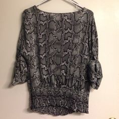 Micheal kors snake print top Never worn. Great condition size M. Very unique MICHAEL Michael Kors Tops