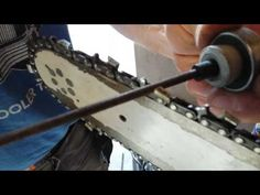 Sharpening a Chainsaw the easy way with a cordless drill - YouTube