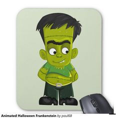 Animated Halloween Frankenstein Mouse Pad