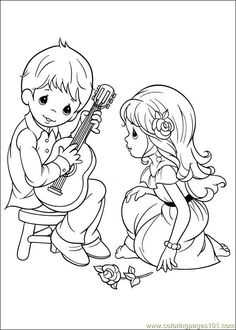 precious moments coloring picture by monica