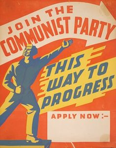 Communism points to progress and development. In this poster communism initally gives hope becasue the people work hard then the government will pe succesful. This poster does not include the power the government truly has in communism. Communist Propaganda, Propaganda Art, Cold War Propaganda, Vintage Ads, Vintage Posters, Vintage Style, Political Posters, Political Art, Political Cartoons