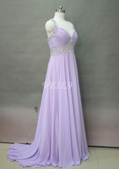 129.00$  Watch now - http://vigbw.justgood.pw/vig/item.php?t=wzn6kd29287 - Chiffon bridesmaid dresses Lilac prom long evening dress Hand Sequins Gowns Swee 129.00$