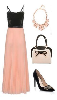 Elegant long maxi evening dress ...