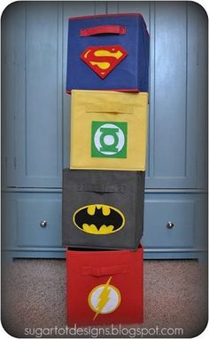 These are super cute and really easy to make! Click here to find out how to make them and to see how this blogger transformed her child's entire room into a super hero haven.
