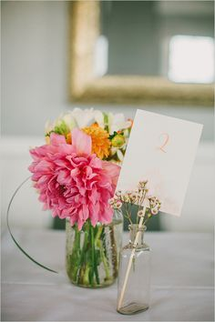 spring table number ideas