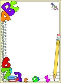 free printable border designs for paper Boarder Designs, Page Borders Design, Printable Border, School Border, Kindergarten Portfolio, Boarders And Frames, School Frame, Kids Background, Powerpoint Background Design