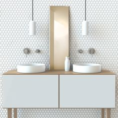 Featured in this neat little bathroom set-up is the Vivid Slimline Oval Wall Mixer and Outlet. The chome tapware sits nicely amongst a simple a refined colour palette, perfect for comfortable and relaxing bathroom designs. http://www.phoenixtapware.com.au/modules/mastop_publish/?tac=VIVID_SLIM_LINE_OVAL_RANGE
