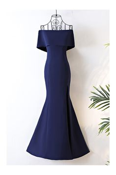 Shop Long Navy Blue Satin Mermaid Formal Dress Off The Shoulder online. SheProm offers formal, party, casual & more style dresses to fit your special occasions.