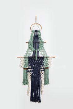 Navy is Never Boring....Macrame Wall Hanging by by NickersAnne