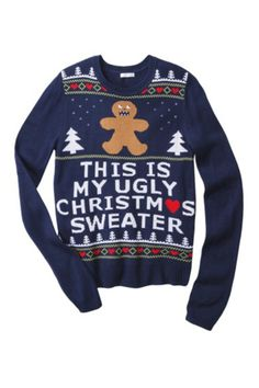 Gingerbread Man Ugly Sweater - If you want to be truly obvious...