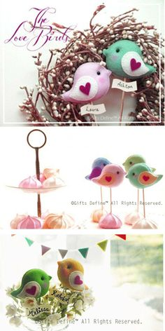 Love Birds Party Topper