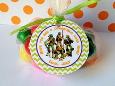 12 Teenage Mutant Ninja Turtles Birthday by sweetheartpartyshop, $8.00