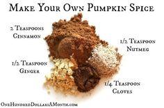 Easy Kitchen Tips – Pumpkin Pie Spice Recipe Diy Pumpkin, Pumpkin Recipes, Pumpkin Spice, Homemade Pumpkin Pie Spice Recipe, Homemade Spices, Homemade Seasonings, Food Storage, Comida Diy, Seasoning Mixes