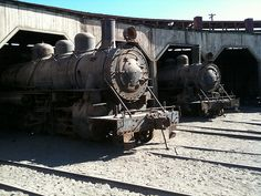 Trains At Abandoned Desert Station