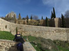 Mariam lounging in Spain