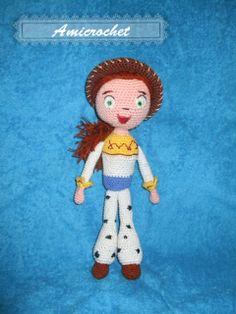 Jessie Doll Amigurumi ( Toy Story) ~ Free PDF Pattern https://docs.google.com/file/d/0B0_p0rKZ_B3CNDk0Njc1NjItMjQyOC00YjBlLWJhYzctMjdmNGZmMDRhYTc3/edit?pli=1