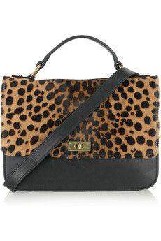 J.CREW  Edie leopard-print calf hair bag