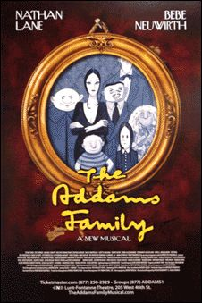 The Addams Family the Musical Broadway Poster (Bebe Neuwirth & Nathan Lane)