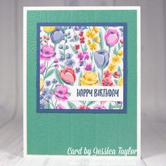 Learn how to make beautiful floral cards like this with this quick and easy card making tutorial! #handmadecards #papercrafts #tutorial Handmade Cards For Friends, Diy Birthday Gifts For Friends, Handmade Birthday Cards, Happy Birthday Cards, Card Making Ideas For Beginners, Card Making Tips, Card Making Tutorials, Card Making Techniques, Homemade Christmas Cards